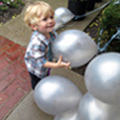 Luca with ballons