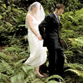 Wedding Couple in Greenery