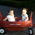 twins in Wagon